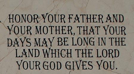 Τίμα τον Πατέρα σου και τη Μητέρα σου